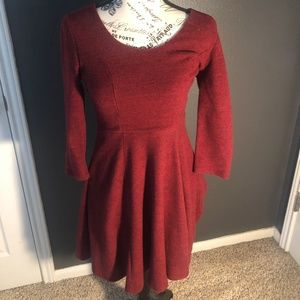 Red Winter Dress